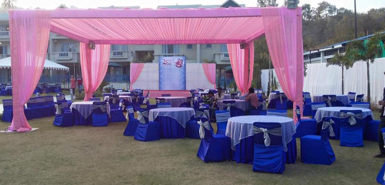 Outdoor Marriage Function - Hummingbird Resort