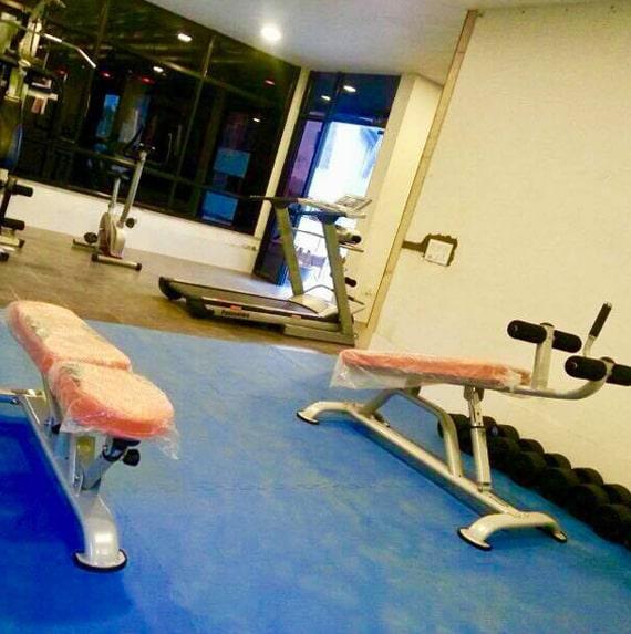 gym equipments - Humming Bird Resorts